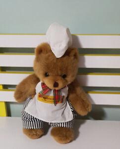 TEDDY-BEAR-BEECHWORTH-BAKERY-BAKER-PLUSH-TOY-SOFT-TOY-26CM-KORIMCO