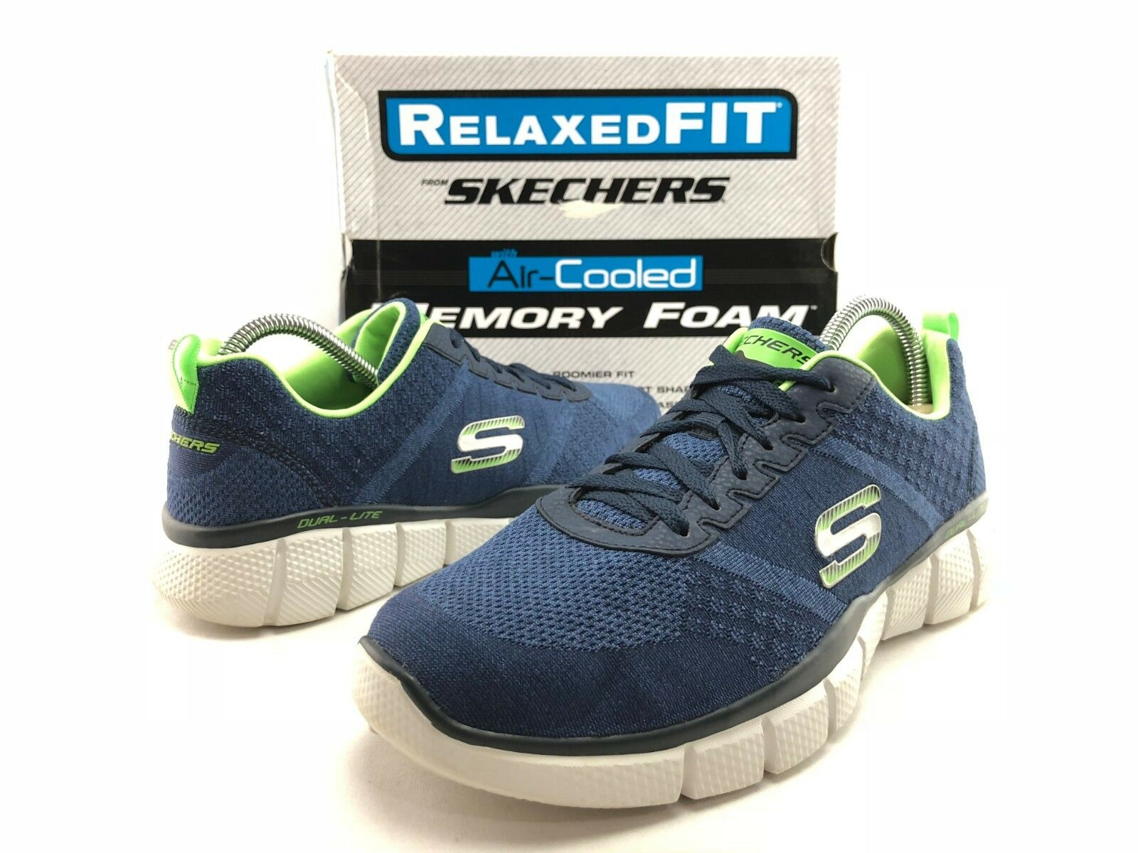 Skechers True Balance hommes 's bleu Green Lace Up Athletic Running Chaussures US 8 C313