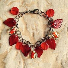 Charming Red Chain Charm Bracelet