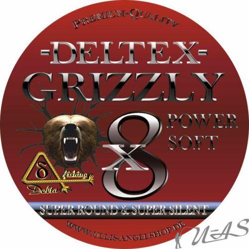 DELTEX GRIZZLY Gelb 0.08mm 11,40kg 1000M 8 fach Geflochtene Hi Tech Angelschnur
