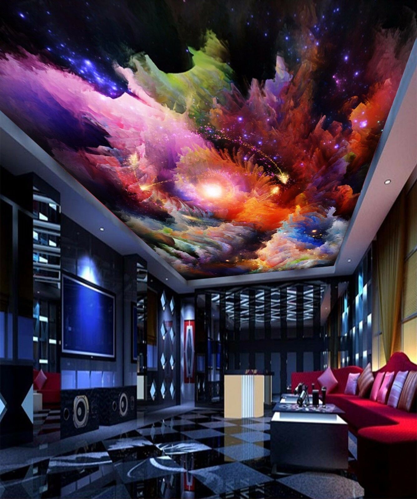 3D Graffiti Sky 732 Ceiling WallPaper Murals Wall Print Decal Deco AJ WALLPAPER