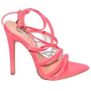 Sandalo Incrociate Fucsia Con A Tacco Fascette Donna Lucido Spillo E QCtshrd