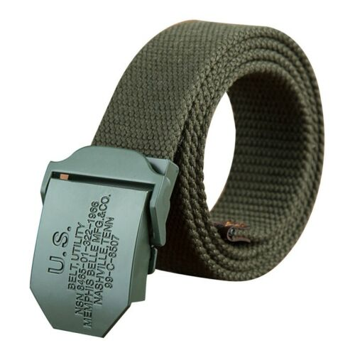 Men Canvas Belt Outdoor Casual Waistband Automatic Buckle Tactical Waist Strap