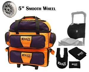 KAZE-SPORTS-4-Ball-Double-Decker-Bowling-Bag-Roller-Tote-Joey-Add-On-Spare-Set