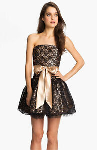 Image Is Loading New Jessica Mcclintock Strapless Lace Amp Tulle Dress