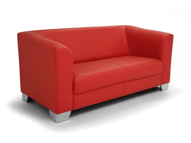 Chicago 2er Sofa Ledersofa Rot Gunstig Kaufen Ebay
