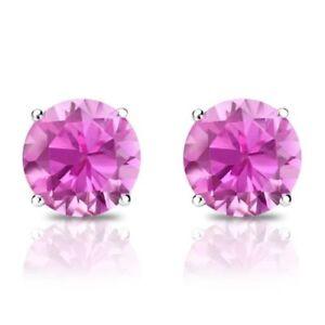 1-Ct-Diamond-Stud-Earrings-5MM-Pink-Diamond-Solitaire-Earrings-14k-White-Gold