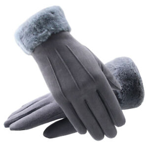 Touch-Screen-Gloves-Women-Winter-Warm-Suede-lined-Full-Finger-Windproof-Gloves