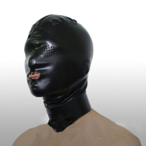 Realistic Latex Mask Rubber Unisex Hood with Mouth Tube Unique Wear for Party