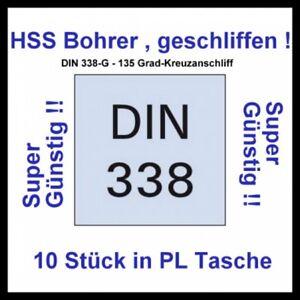 1 x HSS-G Spiralbohrer 15,5 mm Metallbohrer HSSG Bohrer geschliffen DIN338