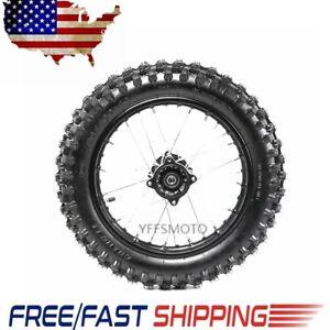 1 85x14 Rear Wheel Rim 90 100 14 Tires Tyres 15mm Axle Fit Dirt Bike Motorcycle Ebay