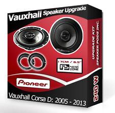 Vauxhall Corsa D Front Door Speakers Pioneer car speakers + adapter pods 240W