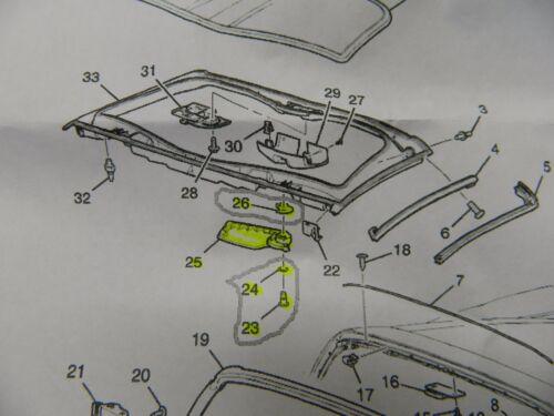 Pass Side 2005-2013 C6 Corvette Roof Panel Front Latch Handle Kit GM#15235974