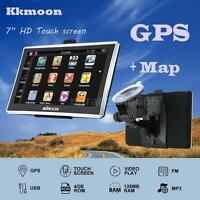 "7"" HD Touch Car GPS Navigation USB TF FM MP4 MP3 Video Play 128MB 4GB +Free Map"