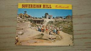 OLD-AUSTRALIAN-POSTCARD-VIEW-FOLDER-1970s-SOVEREIGN-HILL-BALLARAT-VICTORIA