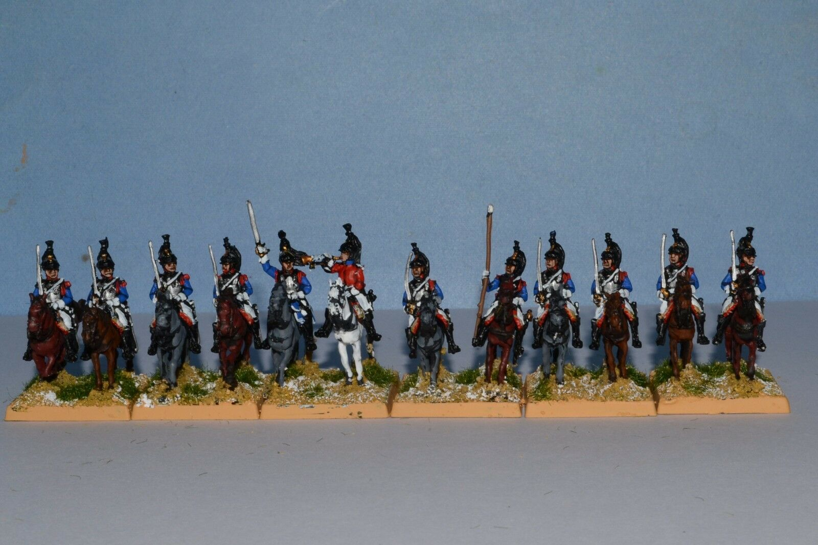 15mm Napoleonic painted French Cuirassier Fr014