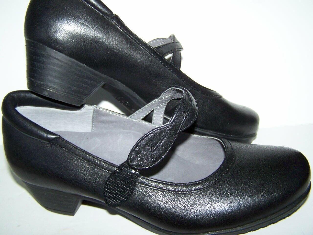 SALE New ABEO MARISOL Black Mary Jane Orthotic Shoes Women's 5N narrow wVelcro