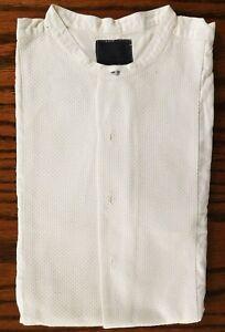 Cecil-Gee-Sin-Cuello-Tunica-Camisa-Tamano-16-Waffle-Marcella-Vintage-1950s-Reparado