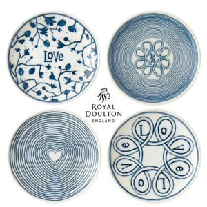 New Royal Doulton 4pc Blue Love 16cm Plate Set of 4