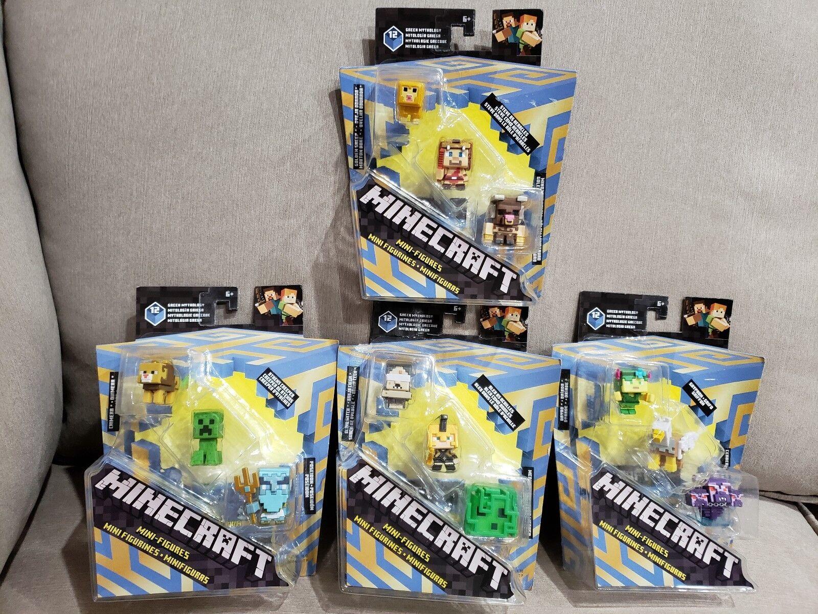 Minecraft Greek Mythology Mini Figures Set of 12 Brand New Sealed