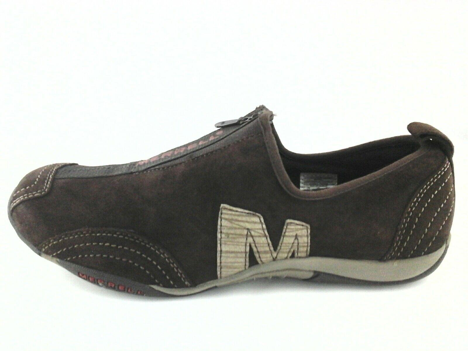 MERRELL Sneakers  Chaussures  BARRADO Brown Suede Zip Casual femmes  US 8.5 EU 39  79