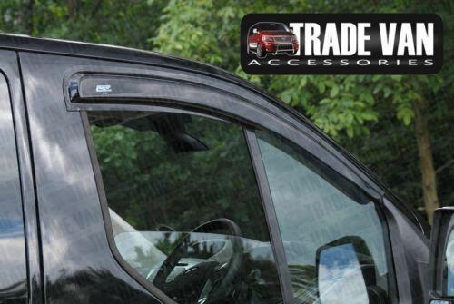 FORD Transit Custom Deflettori Vento Pioggia visiere SCURA COLORATA 2012-18 Set di 2