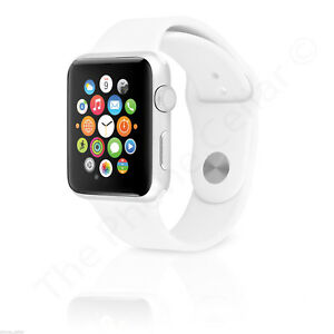 Apple Watch Series 1 38mm Silver Aluminum Case White Sport Band Mnng2ll A Ebay