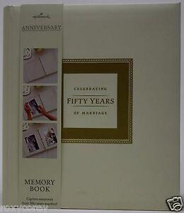 50th wedding anniversary memory book at hallmark