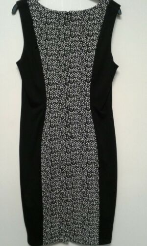 Size 8,10 20 12 George Bodycon Panelled with Buckle To Front Black and White