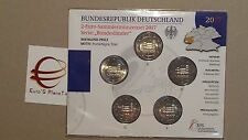 5 x 2 euro 2017 fdc UNC Germania Allemagne Alemania Deutschland Porta Nigra