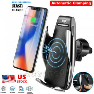Rotate-Automatic-Clamping-Wireless-Car-Charger-Receiver-Mount-For-iPhone-Android