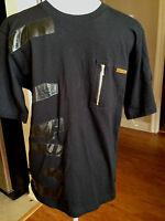 Cavi Boys T-shirt Size Large Solid Black Everyday Cotton All Seasons