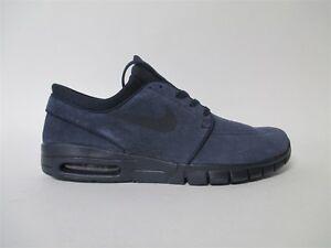 wholesale dealer 474ea 090b7 Image is loading Nike-SB-Stefan-Janoski-Max-Dark-Obsidian-Black-