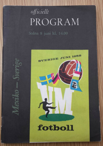 1958 World Cup Finals MEXICO v SWEDEN