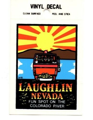 New Lot of 12 Laughlin Sunset Souvenir Luggage Decals Stickers Free S/&H
