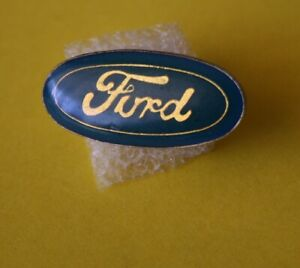 Pin-039-s-lapel-pin-pins-Car-Voiture-Marque-Logo-FORD-Epoxy-base-dore-Vintage
