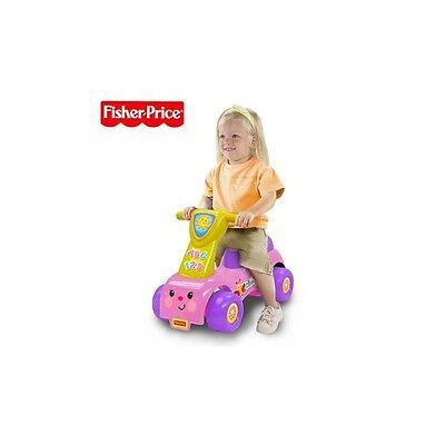 Fisher Price Lil' Scoot 'N Ride Durable and High Quality - Pink/Purple