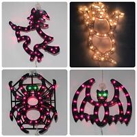 Lot Of 4x Halloween Lite Mix Design Frame Sculpture Window Lite Decoration