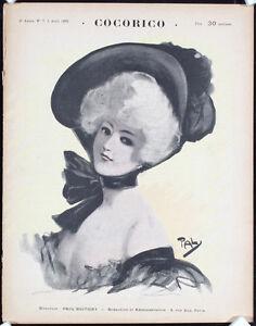 3-ORIGINAL-1899-COCORICO-French-Magazines-PAL-MUCHA-Lot-121