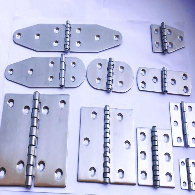 Feinguss Scharnier 50x50mm 1 St polierter Edelstahl V4A