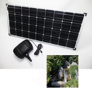 100w solar bachlaufpumpe teichpumpe solarpumpe gartenteichpumpe pumpenset teich ebay. Black Bedroom Furniture Sets. Home Design Ideas