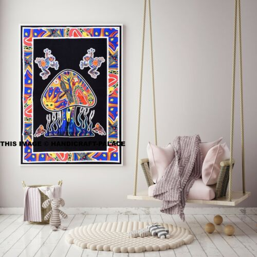 Indian Psychedelic Mushroom Tapestry Wall hanging Hippy Tapestry Wall Decor New