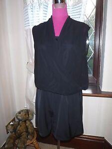 Gewidmet Amazing All Saints Amis Playsuit Black Size 10 Excellent Condition