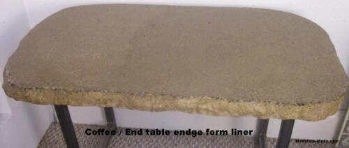 """NEW Aggressive Stone Concrete Cement Split Face Countertop Edge Form Mold 2/""""x8/'"""