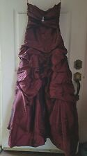 Gorgeous DK Wine Burgundy Maroon Long Evening Ball Gown Size 4 NWT Full Length