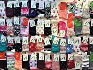 10 pairs ladies women luxury socks coloured design cotton blended size 4-7 TNOK