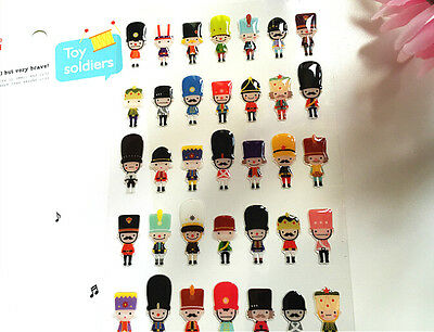 Cute British Guard Soldier Novelty Sticker Scrapbook card DIY gift Kid Diary