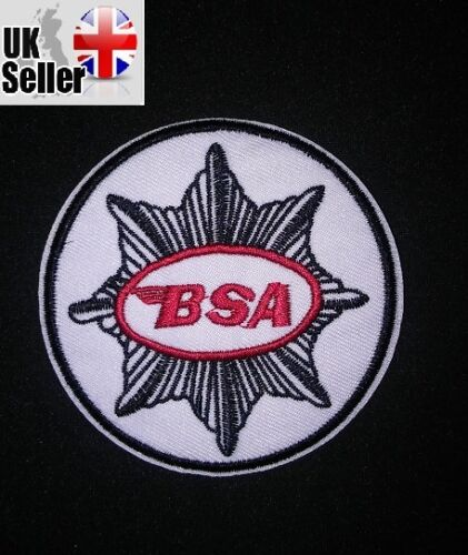 BSA Iron-on/sew-on Embroidered Patch Motorcycle Biker