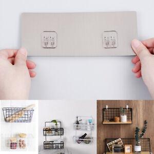 Waterproof Shelf Sticker Bathroom Kitchen Wall Shelf Rack Sticking Screw Hook Ebay