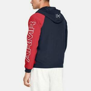 Men-039-s-Under-Armour-UA-Baseline-Jacket-Woven-Windbreaker-Hoody-1317413-600-XL
